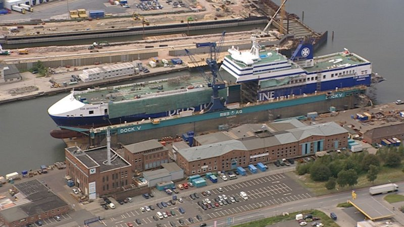 Schiffsvergrößerung Extrem