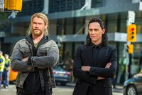 Thor (Chris Hemsworth), Loki (Tom Hiddleston )