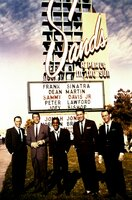 """Frank Sinatra, Dean Martin, Sammy Davis Jr., Peter Lawford und Joey Bishop (v.l.) posieren für den Film """"Ocean's Eleven"""" (1960)."""