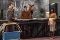 Jon Hamm (Laramie Seymour Sullivan), Lewis Pullman (Concierge Mike Miller), Cynthia Erivo (Darlene Sweet).
