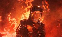 Auf einem Planeten droht ein Vulkanausbruch, die noch wenig entwickelte Zivilisation auszulöschen. Die Crew der Enterprise versucht alles, um dies zu verhindern. Da gerät unglücklicherweise Spock (Zachary Quinto) im Krater des Vulkans in Lebensgefahr ...