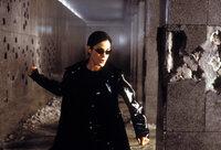 Zusammen mit Neo zerlegt die gefährlich schöne Trinity (Carrie-Anne Moss) die Eingangshalle eines Polizeigebäudes, inklusive Wachpersonal, in seine Einzelteile ...
