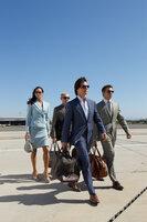 Versuchen alles, um einen Atomkrieg zu verhindern: Ethan (Tom Cruise, 2.v.r.), Jane (Paula Patten, l.), Benji (Simon Pegg, 2.v.l.) und William (Jeremy Renner, r.) ...