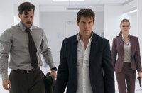(v.l.n.r.) August Walker (Henry Cavill); Ethan Hunt (Tom Cruise); Ilsa Faust (Rebecca Ferguson)