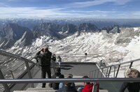 Blick von der Zugspitze.