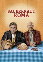 """Plakat - In """"Sauerkrautkoma"""" muss Franz Eberhofer (Sebastian Bezzel), Chef-Phlegmatiker bei der Polizeidienststelle Niederkaltenkirchen, die Heimat vorübergehend verlassen. Das bedeutet für ihn eine WG mit seinem eigenwilligen Kumpel Rudi (Simon Schwarz)."""
