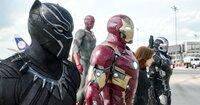 Chadwick Boseman (T'Challa/Black Panther), Paul Bettany (Vision), Robert Downey jr. (Tony Stark / Iron Man), Scarlett Johansson (Natasha Romanoff / Black Widow), Don Cheadle (James Rhodes / War Machine).