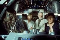 Gigantische Aufgabe: Chewbacca (Peter Mayhew, l.), Luke (Mark Hamill, 2.v.l.), Obi-Wan (Alec Guinness, 2.v.r.) und Han Solo (Harrison Ford, r.) versuchen, die gefangene Rebellenführerin Prinzessin Leia aus den Klauen Darth Vaders zu befreien ...