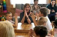 """Im """"Haus der karelischen Sprache"""" wird einer der wenigen rein karelischsprachigen Kindergärten der Republik betrieben."""