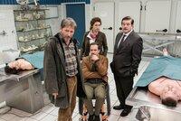 L-R: Hubert Mur (Michael Fitz), Peter Palfinger (Florian Teichtmeister), Irene Russmeyer (Fanny Krausz) and Alfons Seywald (Erwin Steinhauer)
