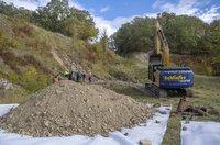 Ausgrabungen im ehemaligen Steinbruch des Konzentrationslagers Buchenwald bei Weimar. MDR Projekt Weimar   01.10.2019   Foto: MDR/Holger John