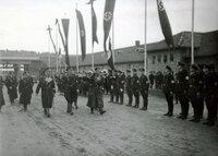 Heinrich Himmler und Robert Ley in der Ordensburg Vogelsang, 1936.