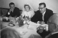 Hochzeit: Das Brautpaar Hannelore und Helmut Kohl im Juni 1960.