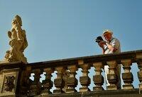 """Ernst Hirsch, bekannt als """"das Auge von Dresden"""". Seine Sammlung historischer Filmaufnahmen aus Dresden ist international gefragt."""