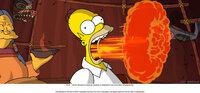 Einer Inuit-Frau (l.) gelingt es, Homer Simpson (r.) zu retteen mit einem offensichtlich feurigen Heilmittel ...
