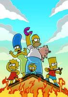 Selbst in einer derart brenzligen Lage will Homer auf keinen Fall auf seinen Donut verzichten ...