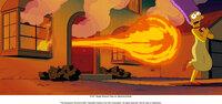 Als Marge (r.) vor dem Feuerball aus ihrem Haus flüchtet, ahnt sie schon, wer dafür verantwortlich ist ...