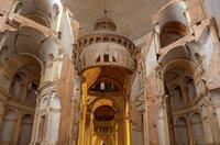 Modell des Petersdoms, der unter anderem nach Plänen Michelangelos gebaut wurde