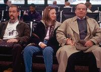 Jack Nicholson ist Schmidt Dermot Mulroney als Randall, Hope Davis als Jeannie Schmidt, Jack Nicholson als Warren Schmidt. SRF/2002 New Line Cinema