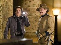 Larry Daley (Ben Stiller, l.); Teddy Roosevelt (Robin Williams, r.)