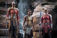 Danai Gurira (Okoye), Lupita Nyong'o (Nakia), Florence Kasumba (Ayo).