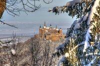 Burg Hohenzollern im Winter.