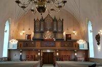 Innenansicht der Kirche von Östra Ämtervik, Familienkirche der Lagerlöfs