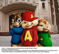 Theodore (left), Alvin and Simon