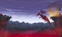In letzter Sekunde können Shrek, Fiona und der sprechende Esel vor der wütenden Drachendame flüchten ...