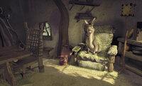 Er ist ja so froh, die Nacht in Shreks gemütlichem Haus verbringen zu dürfen. Ob sich der Esel da mal nicht zu früh freut ...