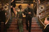 Lupita Nyong'o (Nakia), Chadwick Boseman (T'Challa /  Black Panther).