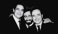 L-R: Plácido Domingo, Luciano Pavarotti, José Carreras
