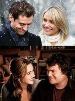Graham (Jude Law), Amanda (Cameron Diaz), Iris (Kate Winslet), Miles (Jack Black).