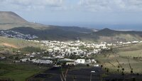 Blick auf Haria auf Lanzarote.