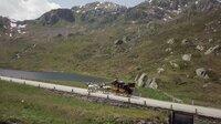 DOK Sonntag: Mythos Gotthard – Pass der Pioniere Postkutsche vor der Gotthard-Passhöhe  Copyright: SRF/Filmquadrat