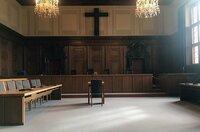 Der Nürnberger Gerichtssaal im Januar 2020