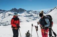 Die Ex-Skirennfahrerinnen Dominique Gisin (l.) und Fränzi Aufdenblatten (r.): Ein Wiedersehen auf der Haute Route nach dem Rücktritt vom Skisport