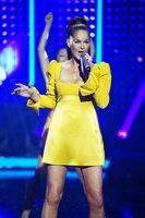 """Schlager-Superstar Andrea Berg mit einem Medley aus """"Du hast mich tausend mal belogen"""" und """"Ja, ich will""""."""
