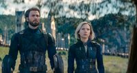 Captain America / Steve Rogers (Chris Evans), Natasha Romanoff / Black Widow (Scarlett Johansson).