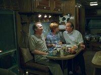 From left: John Rusk (Harry Groener), Vicki Rusk (Connie Ray) and Warren Schmidt (Jack Nicholson).