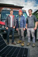 Innovationen für Morgen Peak Evolution - Revolution in der Berglandwirtschaft Start-Up Gründer David Pröschel und die Brüder David und Patrick Koller SRF