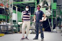 Innovationen für Morgen Öko-Beton Die Erfinder Dr. Gnanli Landrou und Dr. Thibault Demoulin SRF