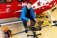 Innovationen für Morgen Limbic Chair - der Stuhl als Interface Dr. med. Patrik Künzler mit seinem Limbic Chair SRF/Faro TV/Tin Scheuchzer
