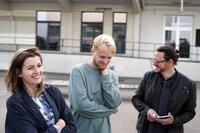 Innovationen für Morgen Dojo Stick - ein neuartiges Kommunikationssystem Jana Kalbermatter und Louis Moser mit Investor Philipp Bracher in Basel SRF/FILMFORMAT/Ramòn Giger