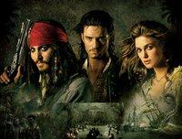 PIRATES OF THE CARIBBEAN  - FLUCH DER KARIBIK 2 - Artwork: mit (v.l.n.r.) Johnny Depp, Orlando Bloom und Keira Knightley