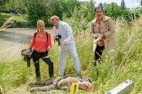 v.li.: Lilian Klebow (Penny Lanz), Helmut Bohatsch (Franz Wolfahrt), Maria Happel (Dr. Franziska Beck).