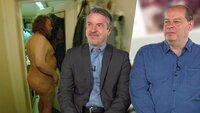 Rechtsanwalt André Galla und der ehemalige Hartz IV-Empfänger Wilfried Fesselmann (re.) sprechen über Oliver (li.), der leidenschaftlicher Nudist ist