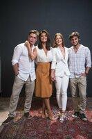 (v.l.n.r.) Arthur (Fabio Assunção); Carolina (Juliana Paes); Eliza (Marina Ruy Barbosa); Jonatan (Felipe Simas)