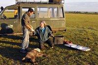 Die Hyäne ist betäubt und wird untersucht: Die Biologin Kay Holekamp arbeitet seit über 20 Jahren in der Masai Mara in Kenia.