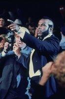 """""""Clubber"""" Lang (Mr. T) fordert den amtierenden Champion Rocky zum Kampf heraus"""